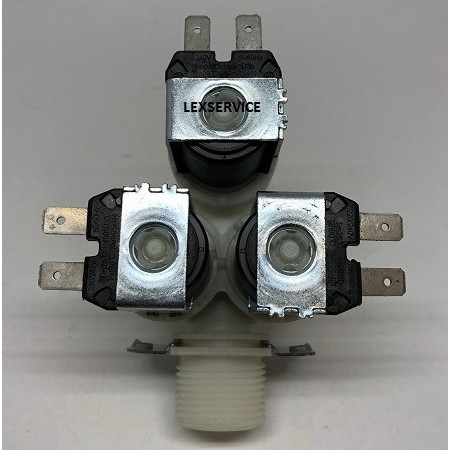 Electrovalva masina de spalat, 3 iesiri 90° 3X15 MM