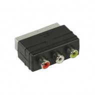 SCART-TATA/3XRCA-MAMA PLASTIC ADAPTOR