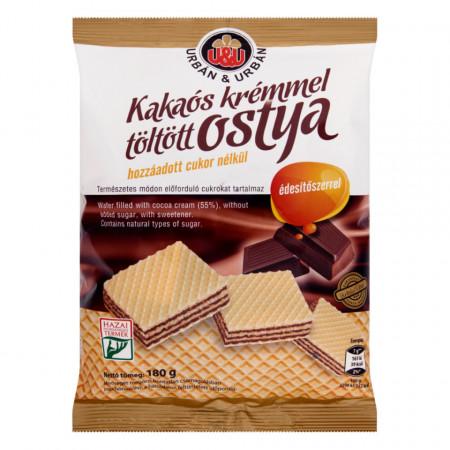 Napolitane cu Ciocolata U&U FARA ZAHAR