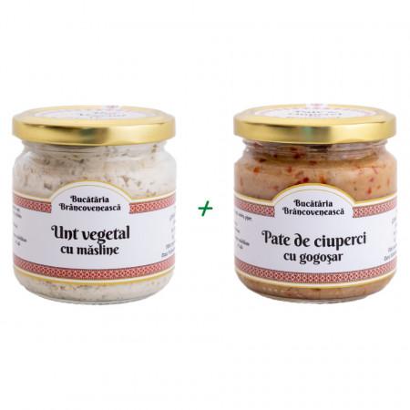 Pachet Unt Vegetal cu Masline + Pateu Vegetal cu Gogosari