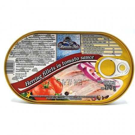 Hering File in sos de Tomate 170g Silvania Fish