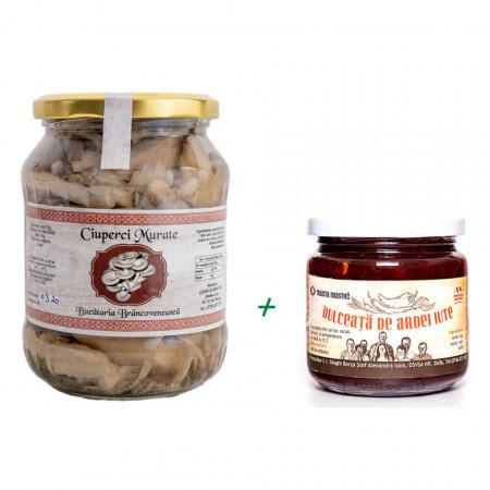 Pachet Ciuperci Murate + Dulceata de Ardei Iute