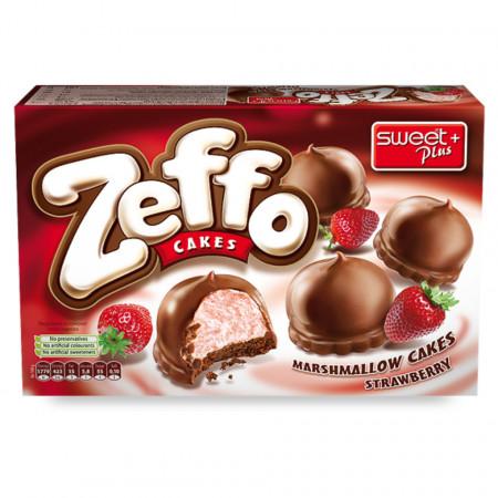 Prajituri ZEFFO cu spuma de Capsuni si Ciocolata