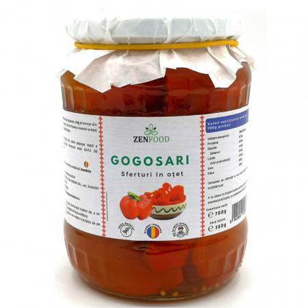 Gogosari sferturi in Otet 720ml ZenFood