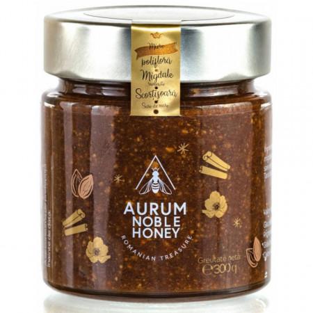 Crema de Miere cu Migdale rumenite Scortisoara si Sare de Mare Aurum Honey