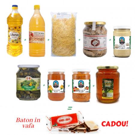 Pachet 9 Alimente de Baza cu Baton in Vafa CADOU