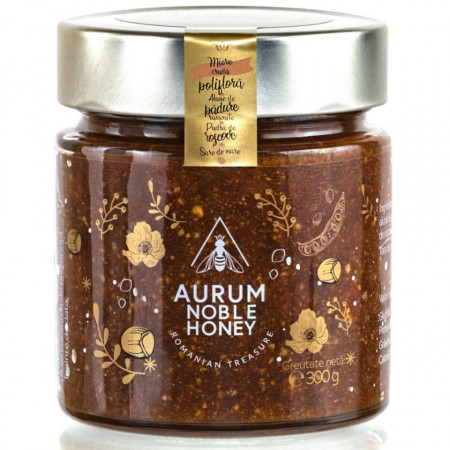 Crema de Miere cu Alune de Padure rumenite pudra de Roscove si Sare de Mare Aurum Honey