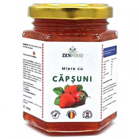 Crema de Miere Naturala cu Capsuni ZenFood