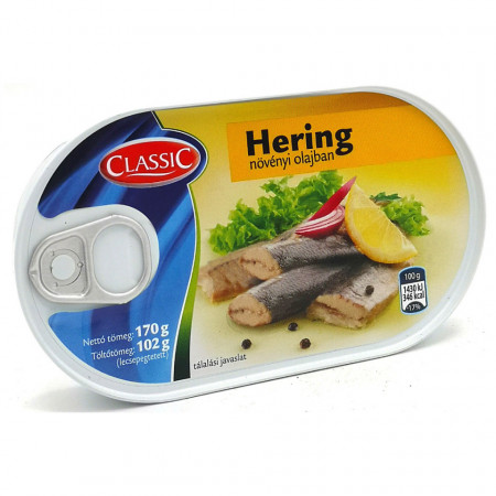 Hering File in Ulei 170g Classic Fish
