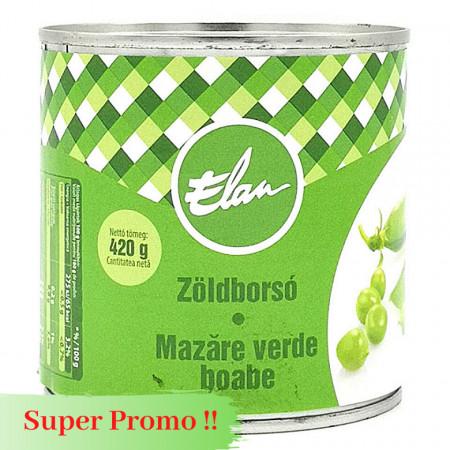 Mazare Verde la conserva ELAN 400g