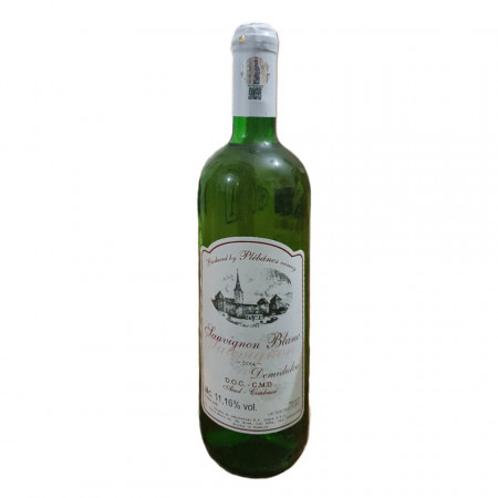 Vin Alb Sauvignion Blanc Plebanos demidulce 2014