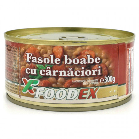 Fasole cu Carnaciori 300g FoodEx