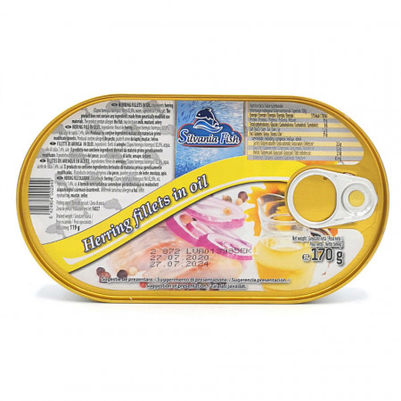 Hering File in Ulei 170g Silvania Fish