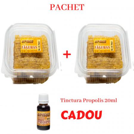 Pachet 2 Faguri cu Miere 0,5kg cu Tinctura Propolis CADOU