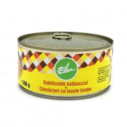 Conserva Fasole cu Carnaciori Elan 300g