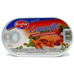 Conserva File de Somon in sos de Rosii EvraFish