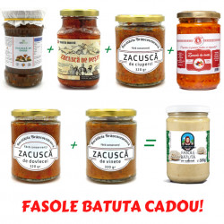 Pachet 6 borcane Zacusca de Casa cu Fasole Batuta CADOU