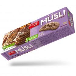 Biscuiti cu Musli fulgi de porumb si Ciocolata
