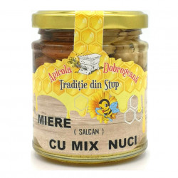 Miere de Salcam cu Mix de Nuci Apicola Dobrogeana