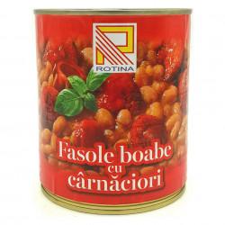 Carnaciori cu Fasole boabe Rotina 800g