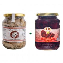 Pachet Ciuperci Murate + Sfecla Rosie