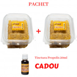 Pachet 2 Faguri cu Miere 0,5kg cu Tinctura Propolis 20ml CADOU
