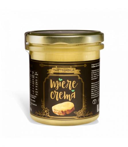 miere crema tartinabila pe paine apisrom borcan de 400g