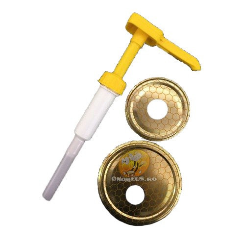 Pompita pentru miere cu capac metalic