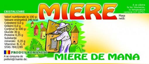 etichete de mana borcan miere