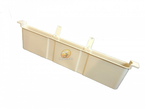 Hranitor apicol tip uluc din plastic mat cu plutitor