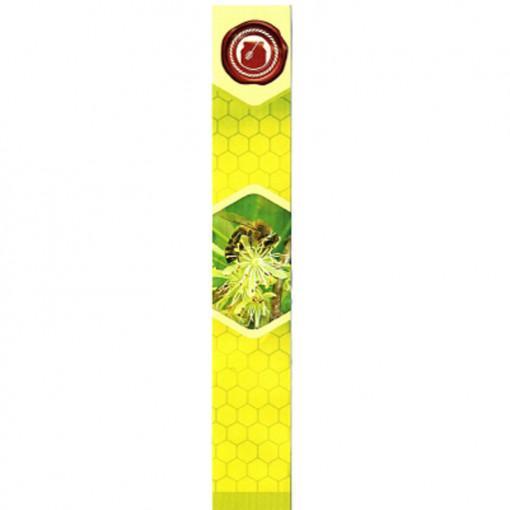 sigiliu galben cu verde cu albina pe floare
