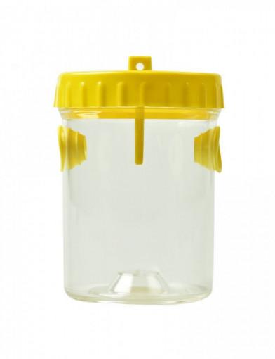 capcana de viespi din plastic cu capac galben
