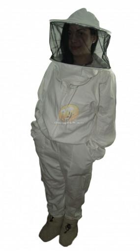 costum apicol din bumbac