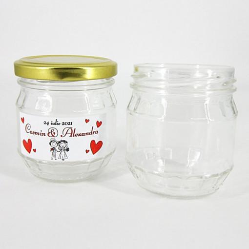 Borcan pentru ambalat mierea sau alte sosuri 200ml - Kira