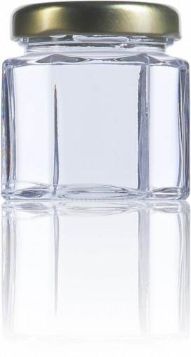Borcan pentru marturii cu miere sau pentru laptisor de matca 47ml - Hexagonal