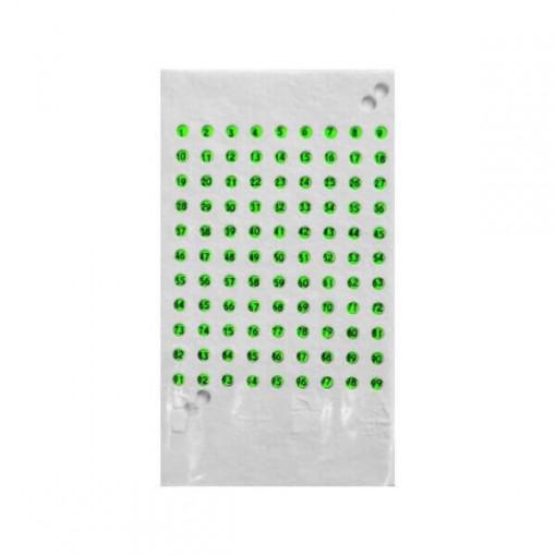 cartela cu placute cu opalit verde