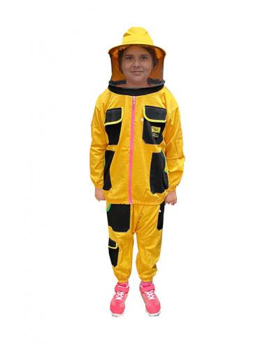 combinezon apicole de copii din doua piese galben