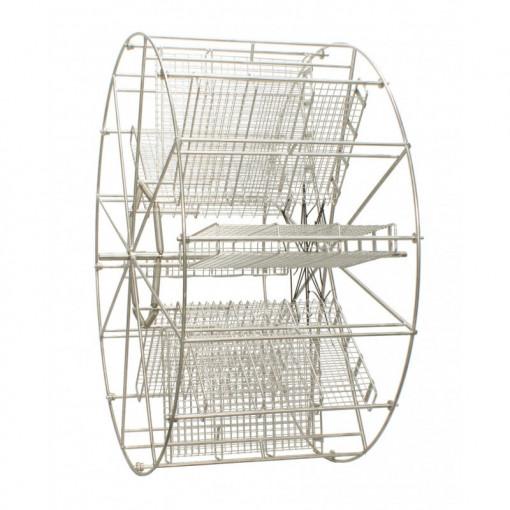 Cos cu 20 casete reversibile pentru centrifuga cu diametrul 1200 mm