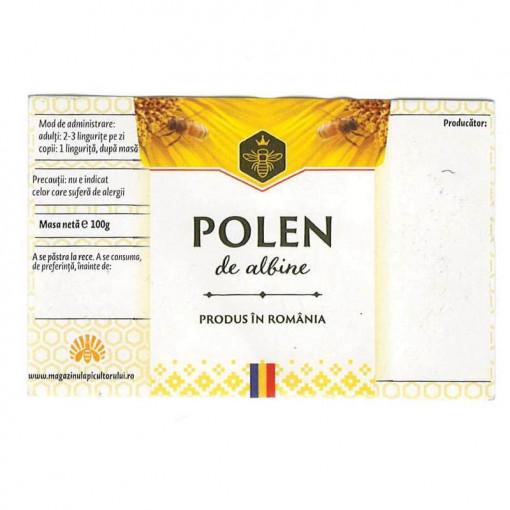 eticheta pentru polen cu motive traditionale