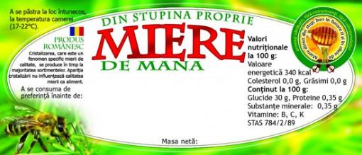 Etichete miere de Mana