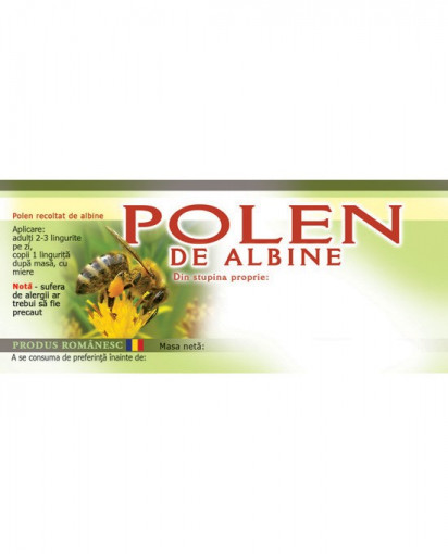 etichete pentru polen