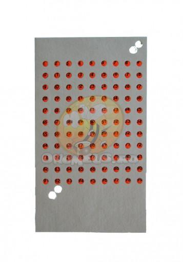 Cartela cu placute de opalit - Rosu