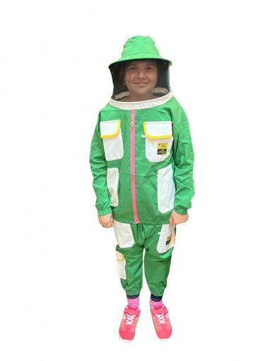 combinezon apicol pentru copii verde
