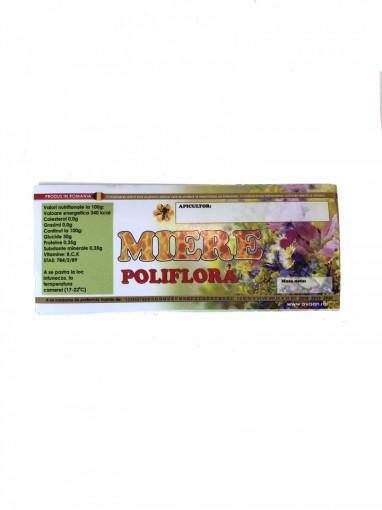 Eticheta borcan miere Poliflora