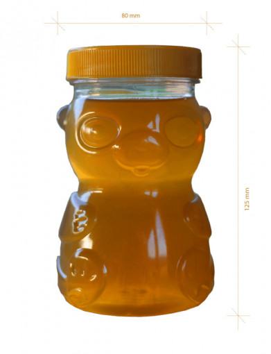 borcan pentru miere ursulet din plastic 0.5 kg