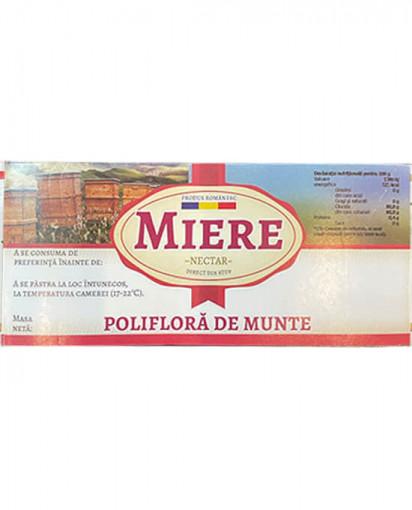 ETICHETA MIERE POLIFLORA DE MUNTE