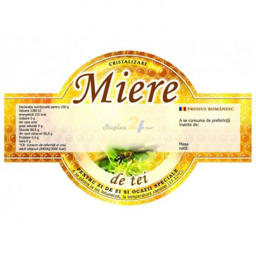 eticheta de miere de tei speciala