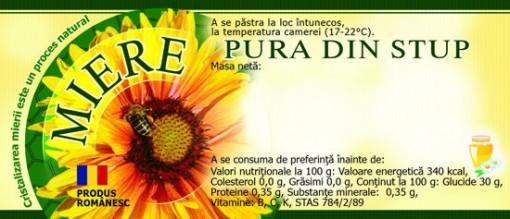 Etichete miere Pura din Stup model verde 115mm x 50 mm