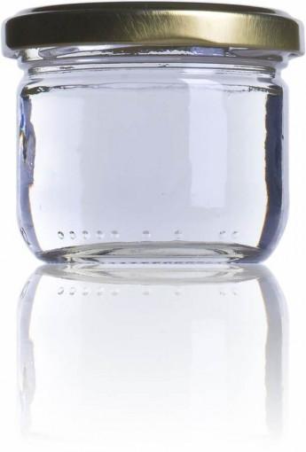 Borcan pentru marturii cu miere sau pentru laptisor de matca 106ml - Oval