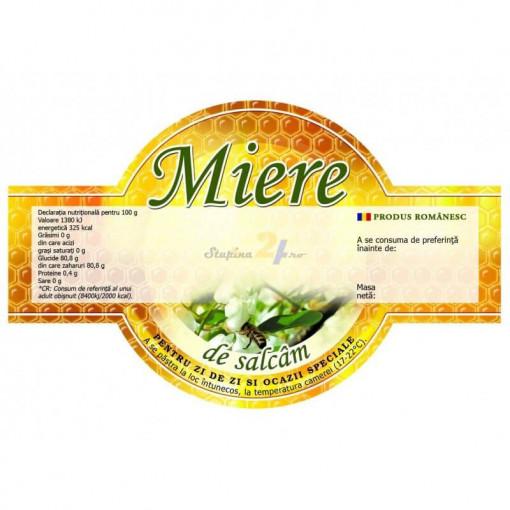 eticheta miere de salcam speciala